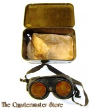 USAAF Polaroid Goggles in metal box (Goggle Variable Density).