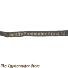 Mützenband 12 Schiffsstammabteilung 12 (Captally 12 Schiffsstammabteilung 12)