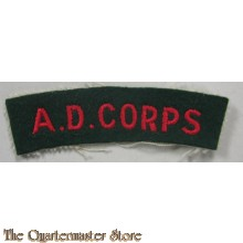 Shoulder title Army Dental Corps A.D.C.