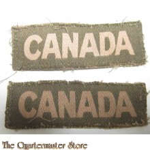 Shoulder titles Canada (canvas)