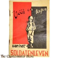 Boekje Voor en Tegen van het soldatenleven
