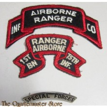 US Army Airborne Ranger badge's