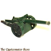 Metalen speelgoed kanon 1950