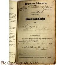 Oorlogszakboekje 8e Regiment Infanterie 3e batt 4e Comp 1890