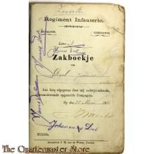 Oorlogszakboekje 5e Regiment Infanterie