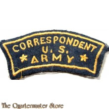 Mouwembleem Correspondent US Army WW2 (shoulder flash Correspondent US Army WW2 France or Belgium ade)