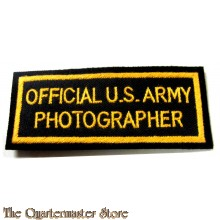 Badge Official US Army Photographer