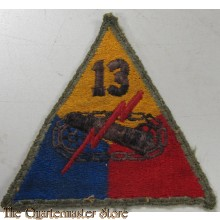 Mouwembleem 13th Armored Division (sleeve badge 13th Armoured Division)
