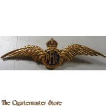 WW2 Royal Air Force Pilot's Wing RAF Gilt & Enamel Sweetheart Brooch