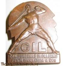WWII Italian Fascist Youth GIL Sports Pin Badge