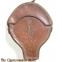 Boer War / WW1 period Prismatic leather compass pouch