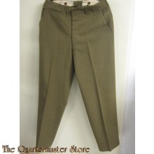 Trousers , wool serge special OD light shade,