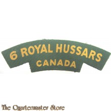 Shoulder title The Royal Canadian Hussars (Montreal) (RCH) (canvas)