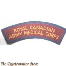 Shoulder title Royal Canadian Army Medical Corps R.C.A.M.C. (canvas)