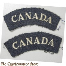 Shoulder titles CANADA RCAF WW2