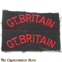 Shoulder titles GT BRITAIN Navy