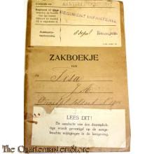 Oorlogszakboekje 8e Regiment Infanterie 8e Depot Bataljon