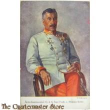 Patriotische briefkaart Armeekommandant G. d. K. Karl Frieh. v. Pflanzer-Baltin No 272