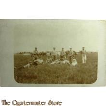 Postkarte Soldaten ruhen im Felde WK1