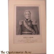 Lithografie Luitenant Generaal H.M. de Kock