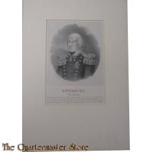 Lithografie Vice Admiraal O.W. Gobius
