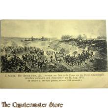 Patriottische briefkaart Doe Grossh Hess. (25) Division am Bois de la Cusse vor der Ferme de Champenois