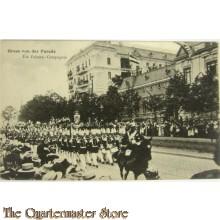 Postkarte 1914  Gruss von der Parade, die Fahnen Compagnie
