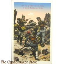 Patriotische briefkaart Ich sei, gewahrt mir die Bitte, in eurer Bunde der Dritte