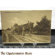 Prent briefkaart mobilisatie 1914 Harskamp,naar de Oosterheide