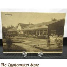 Prent briefkaart 1916 Legerplaats Harskamp