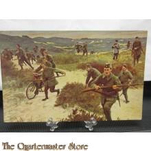 Prent briefkaart 1914 Vrijwillige Landstorm