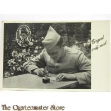"""Prent briefkaart mobilisatie 1940 """"Vergeet mij niet"""""""