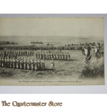 Carte Postale 1914 le troupe Poloniases en France. Celebration de la Messe