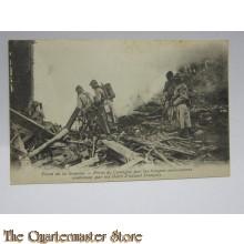 Carte Postale Front de la Somme, Prise de Cantigny par le troupes Americanes soutenues par le chars d'assault Francais