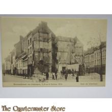 Carte Postale 1914 Bombardement van Antwerpen hoek der Vlierstraat te Berchem 7,8 en 9 oktober