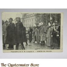 Carte Postale Funerailles de S.M. Leopold II Sortie du Palais