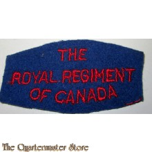 Shoulder flash The Royal Regiment of Canada,  2nd Canadian Infantry Division