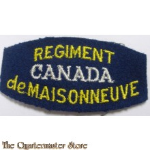 Shoulder flash Regiment de Maisonneuve, 5th Infantry Brigade, 2nd Canadian Infantry Division