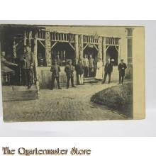 Postkarte 1914 Soldaten mit Familie