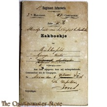 Oorlogszakboekje 1e Regiment 2e Bat 4e Comp 1896