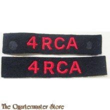Shoulder titles 4 Royal Canadian Artillery 4 RCA