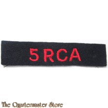 Shoulder title 5th field regiment RCA 4th Canadian Armoured Division