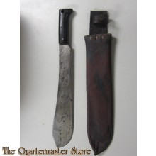 Kapmes met leren schede (Machete with leather scabbard)