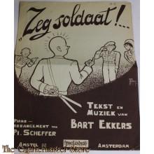 Zeg soldaat!  muziekblad rond 1945-50