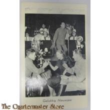 Prent briefkaart mobilisatie 1939 Gelukkig NJ zanger
