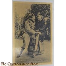 Prent briefkaart mobilisatie 1939 fotograaf poseren