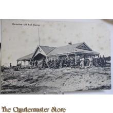 Prent briefkaart mobilisatie 1914 Groeten uit het Kamp