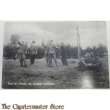 Prent briefkaart mobilisatie 1939 partijtje voetballen