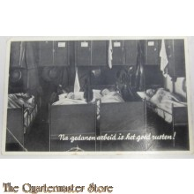 Prent briefkaart mobilisatie 1939 Na gedane arbeid