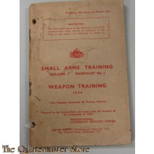 Pamphlet no 1 Vol 1  small arms training Weapon training 1944